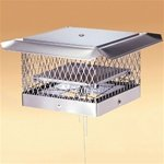 This top chimney damper is called a Lock Top damper and actually doubles as a chimney cap.