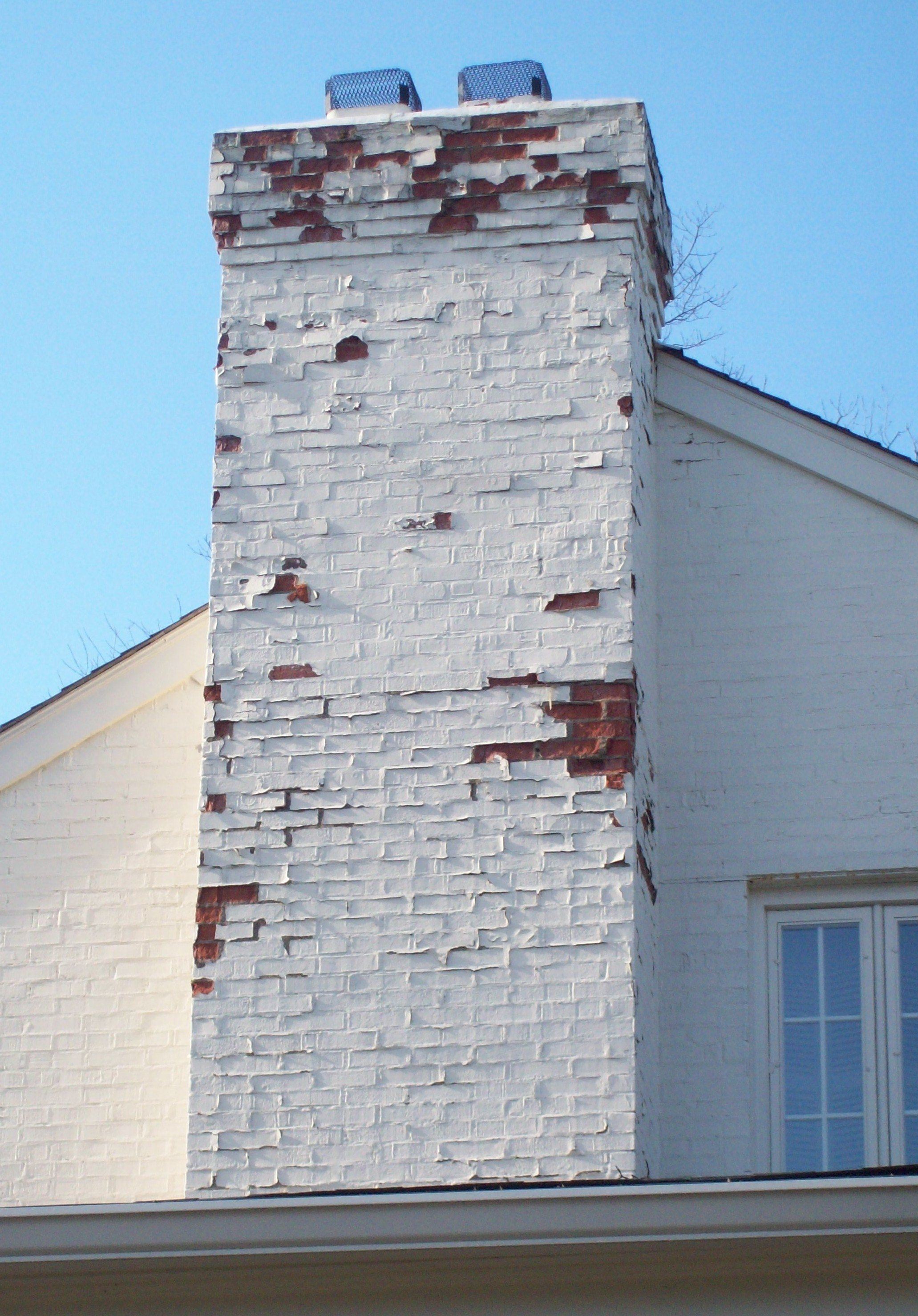 Painted Brick Chimney Ask The Chimney Sweep