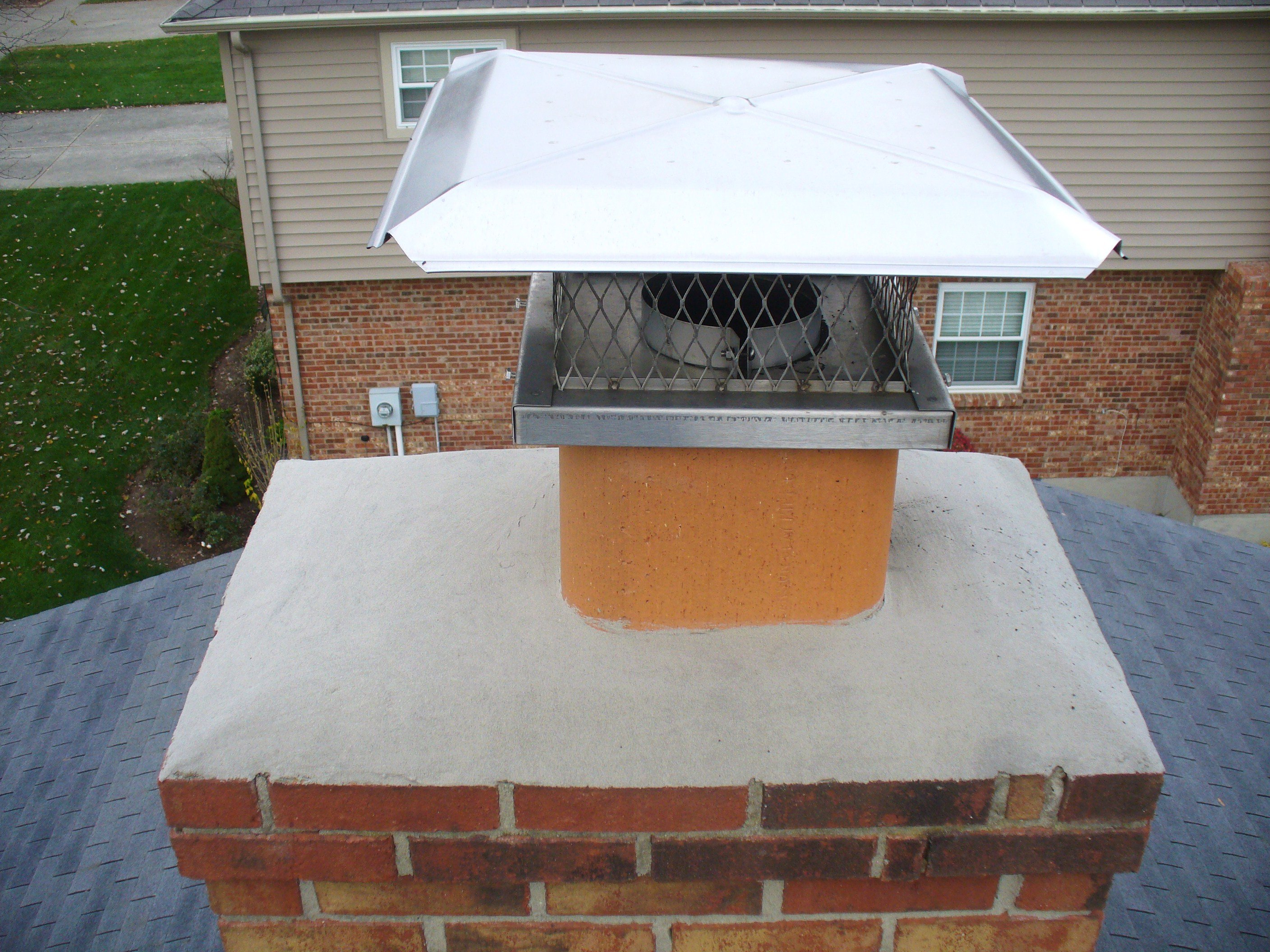 Gas Fireplace Chimney Caps : Gas fireplace cap ask the chimney sweep