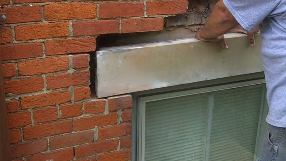 Replacing A Limestone Lintel Ask The Chimney Sweep
