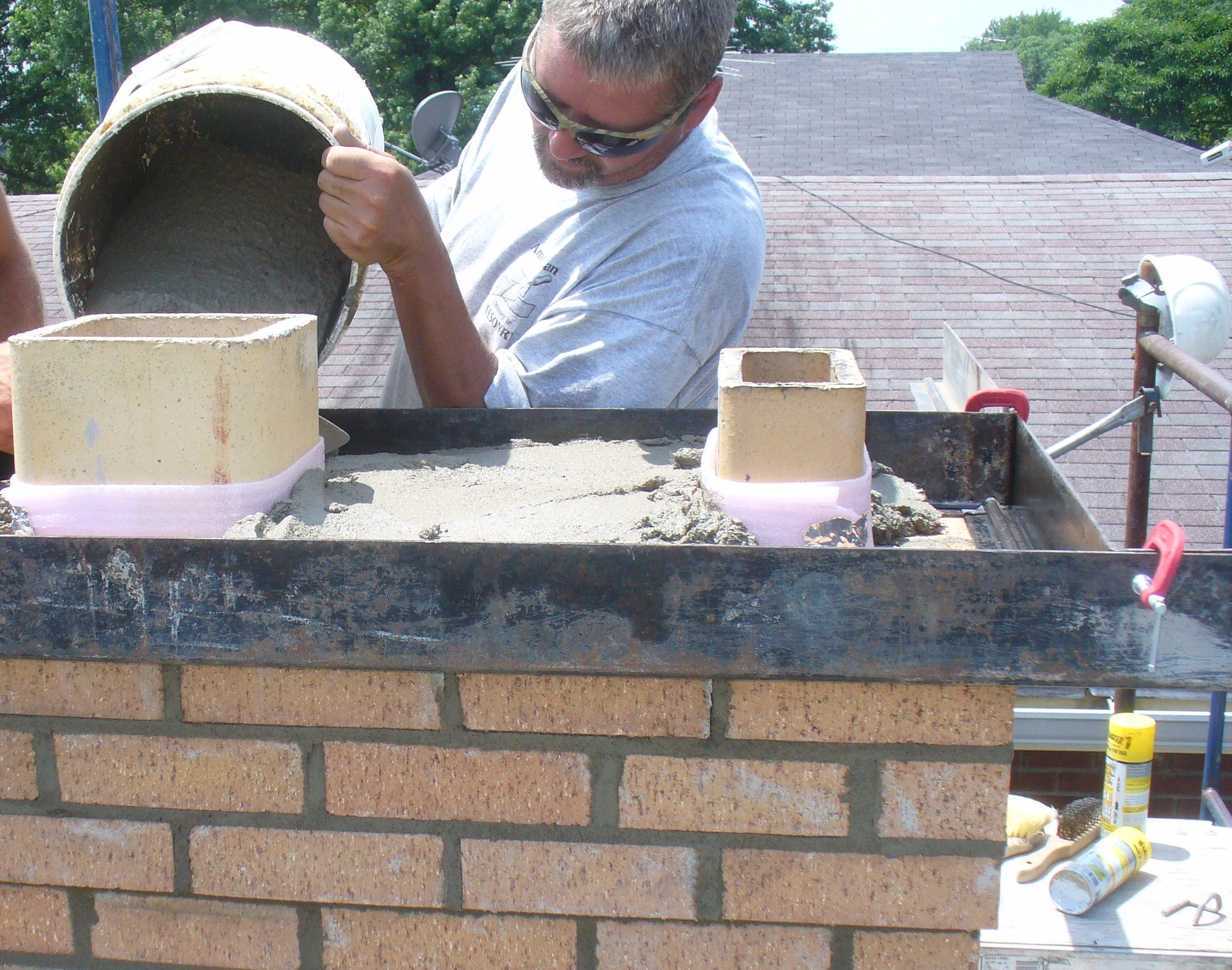 Expansion Joints Around The Top Flue Tile Ask The